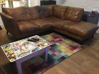 DFS Corner sofa with armchair and footstool
