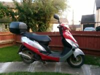 Peugeot V-clic 50cc 2014 ,MOT 12 months,good running+ jacket,helmetLazer,gloves