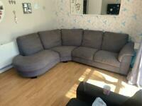 Ikea large grey sofa