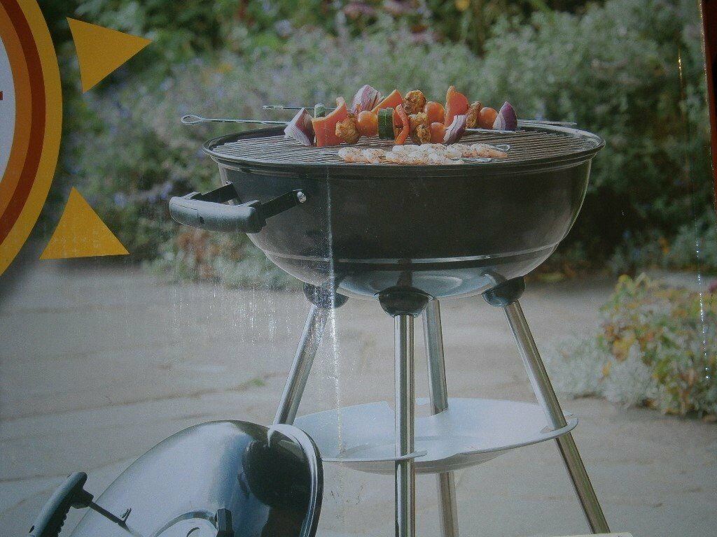 Garden & Patio Tesco Portable Charcoal Kettle Bbq Selected Material
