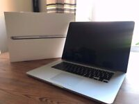 15-inch MacBook Pro (mid 2014, boxed with AppleCare) - 2.5Ghz i7, 16GB RAM, 512GB SSD, GeForce 750M