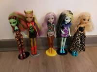 5 x monster high doll
