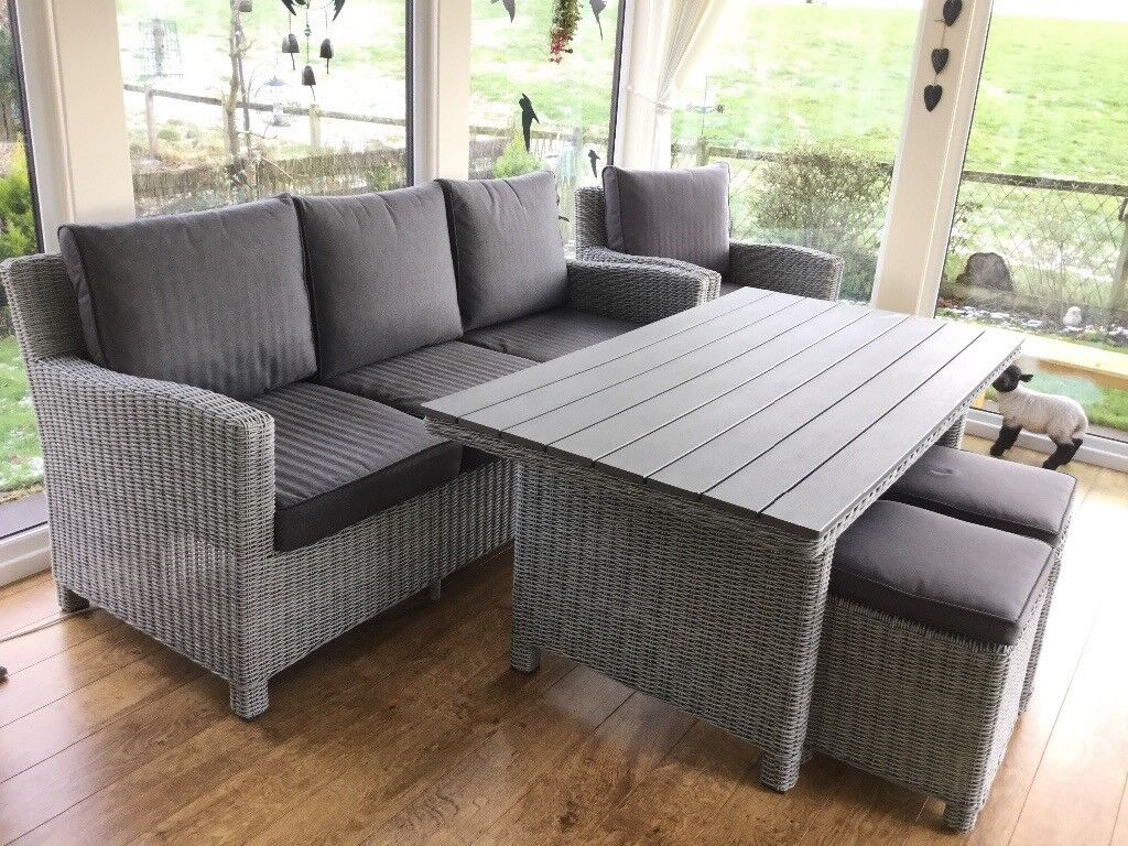 Conservatory furniture suite kettler palma 7 8 seater dining suite as new penrith