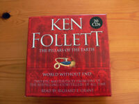 """Ken Follett books: """"The Pillars Of The Earth"""" and """"World Without End"""" on CD"""