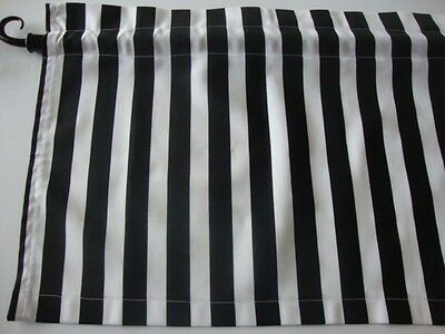 Black and White Stripe Valance Window Curtain Custom Made for Any Room/Theme  ()