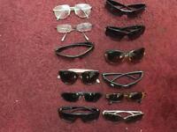 12 Pairs of Sunglasses / Prescription glasses - good for car boot or jumble