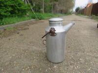 Vintage aluminium milk churn jug with spout