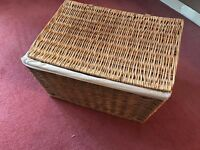 Large Wicker Picnic Hamper or Storage Basket