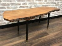 Live Edge Coffee Table with Dansette Legs