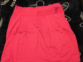 ASOS hot pink size 14 pencil skirt unusual style