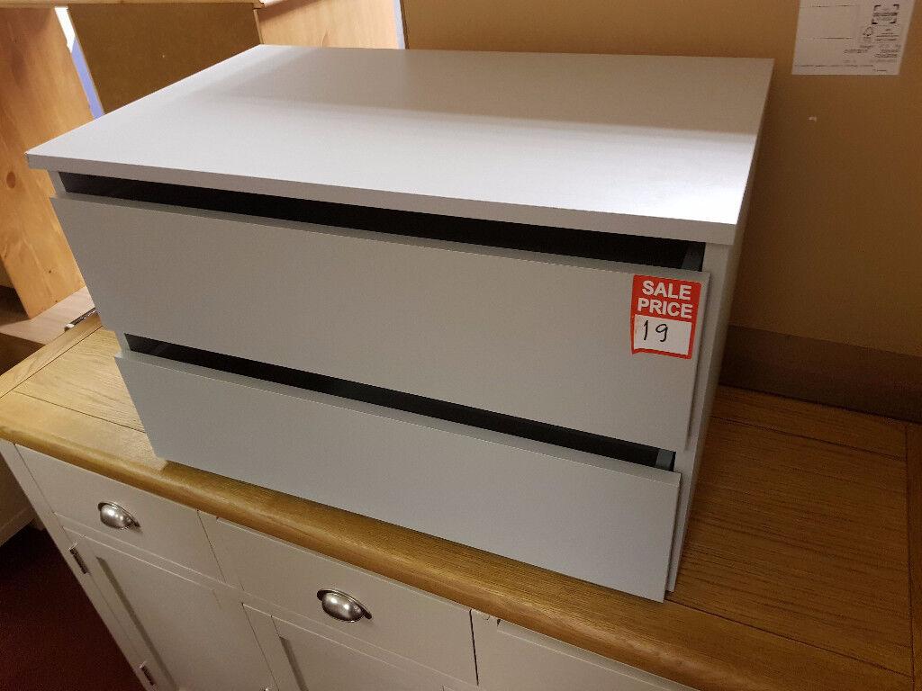 bergen internal 2 drawer chest grey