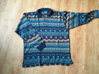 Vintage 80's long sleeve polo shirt - Men size M