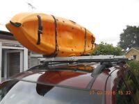 Kari-Tek, canoe, kayak Easy Load Roof Rails with Thule Locking roof rack