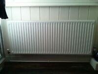 3 unused white double panel radiators