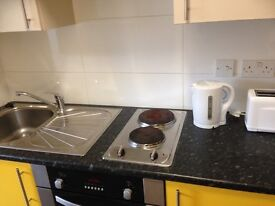 Studio flat, all bills included, easy walking distance of Newcastle Unis and the city centre.
