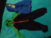 Boys splash suit/puddle suit and waistcoat