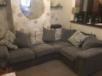 Grey corner settee. Bought 16month ago from scs. Excellent condition.