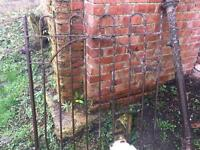 Steel gate & post