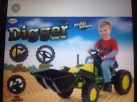 Kids ride on digger brand new in box £70