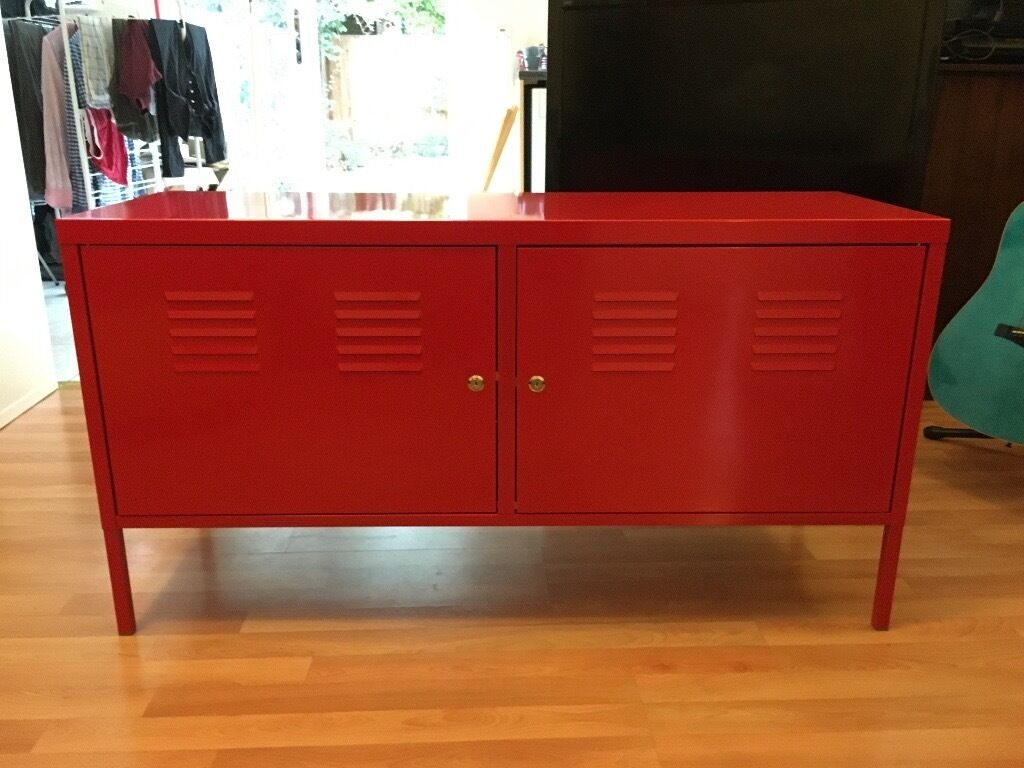 Ikea Ps Red Metal Cabinet Tv Stand In Walthamstow London