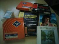 Selection of old cassette reels.