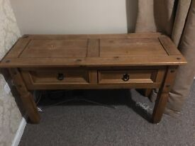 Console table and bookshelf cuboard