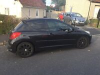 06 Peugeot 206 sport, 1.4 lowered suspension