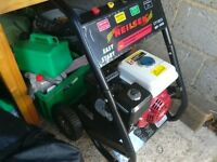 Petrol pressure washer 4 stroke engine 5.5 hp easy start with lance and nozzle used twice vgc gwo