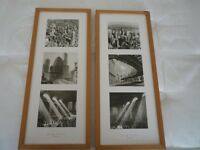 2 New York Black & White Prints- Pine Frames