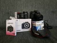 Canon 650d + grip + 3 Lenses