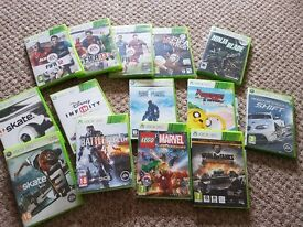 Various Xbox games including fifa 12, 13, 15