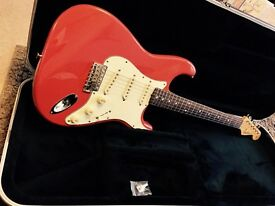 Rare Fender Japan FSR- MIJ Old Fiesta Red Stratocaster.