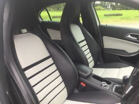 Mercedes a180 a class white 2013 SAT NAV and PARKING SENSORS white part leather interior