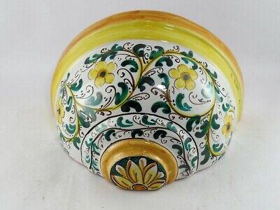Vaso gerla in ceramica portafiori applique di Caltagirone L 21 cm