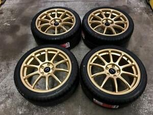 "18"" FAST Staggered Gold Rims 5x114.3 and Staggered Tires (Japanese Cars) **AUGUST BLOWOUT SALE** Calgary Alberta Preview"