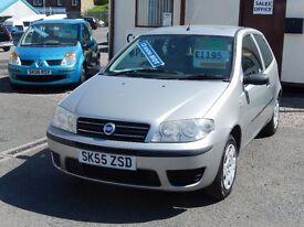 05/55 Fiat Punto 1.2 Active 8v, 5dr, Metallic Silver. **12 months MOT**