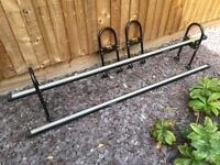 Ladder bars mainly for vans with gutters for clamping onto. Fully adjustable for height