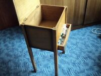small free standing box for storage of sewing and wool bits and pieces