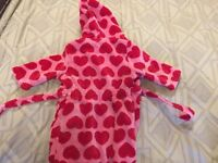 girls dressing gown 12- 18 month