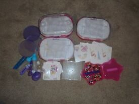 Aqua Bead items templates and storage boxes accessories and some beads