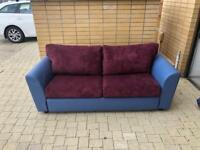 Purple custom made sofa bed