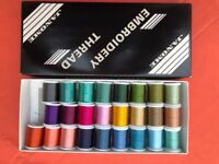Janome box no.2 embroidery threads