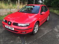 Seat LEON S 16v Red 1.4 years mot 1 year 2005