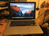 MACBOOK PRO 13.3, I5 2.5GHZ 3rd Gen, 8gb Ram, 128 SSD, Dual Operating system windows 7/mac os