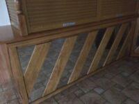 Light Wood and Mirror Panel Bar