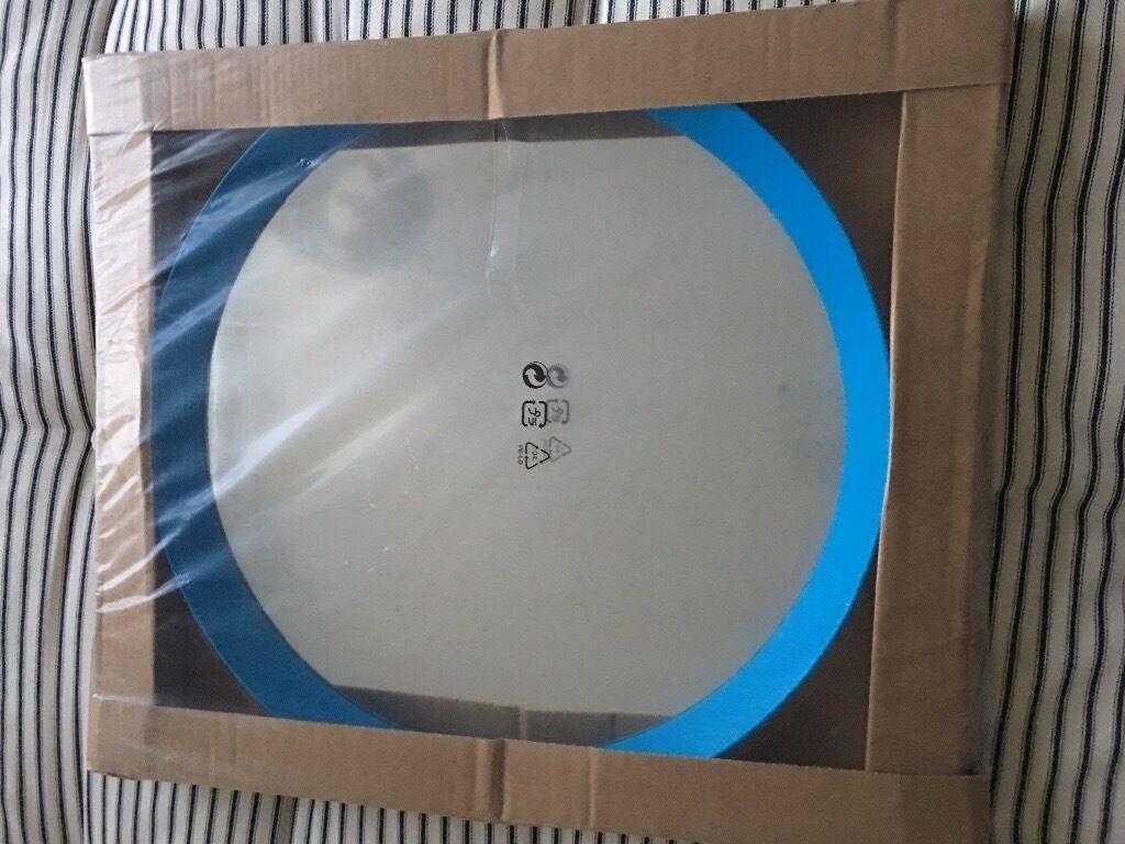 Ikea Round Blue Langesund Mirror