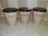 Tea Coffee and Sugar Pots/Canisters Storage