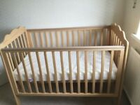 A wooden Littondale cot in immaculate condition. Purchased from brand new. Hardly used.