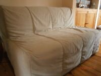 Two-seat sofa-bed Ikea- beige