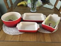 Red Le Creuset Set Brand New In Box £80